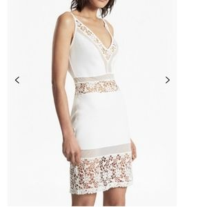 French Connection Mid Length White Lace Dress